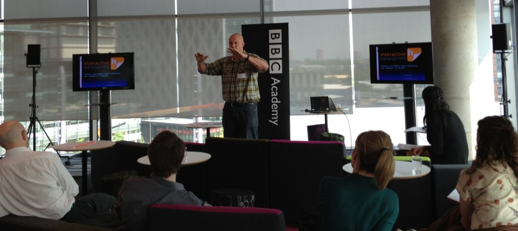 Interactive Newsprint presents at BBC Connecting Communities