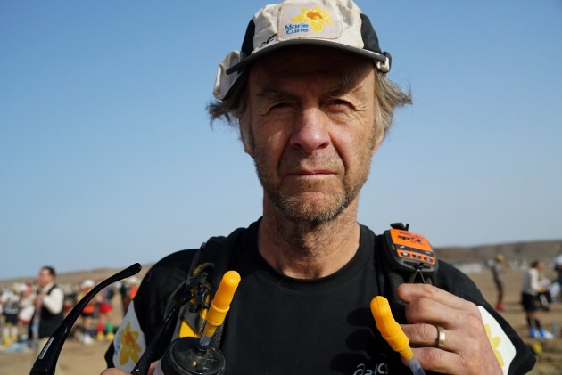 Sir Ranulph Fiennes at startline for Marathon des Sables